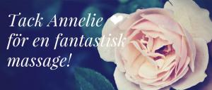 Tack Annelie ❤️för en fantastisk massage!.universellbalans.web